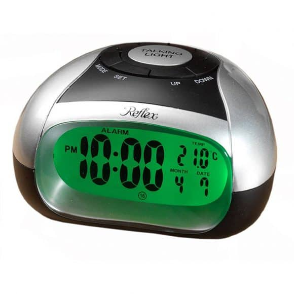 talking alarm clock for blind