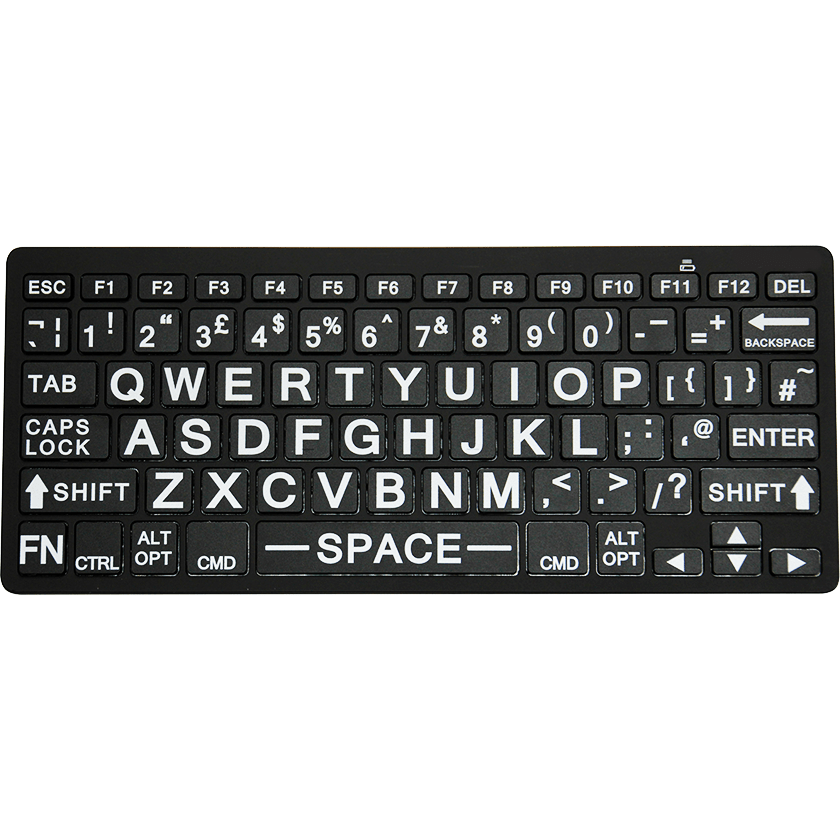 bluetooth wireless large print keyboard for visually