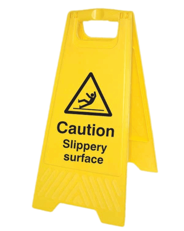Caution Slippery Surface Floor sign - Fall prevention