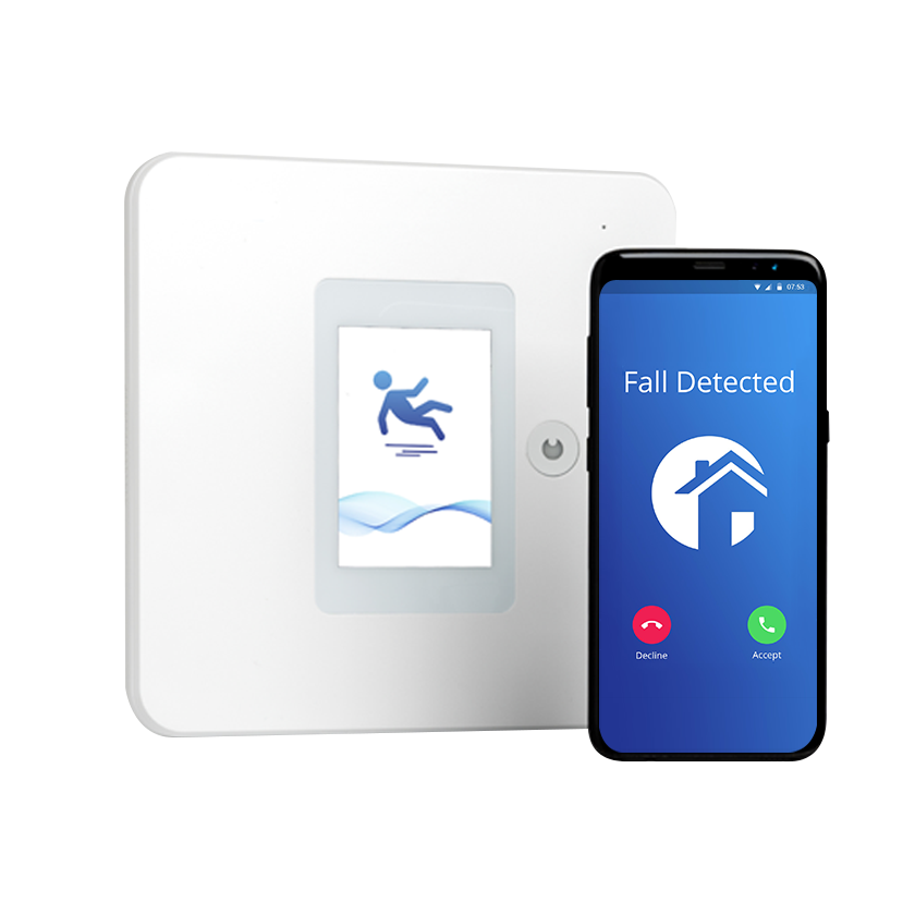 Wall-Mounted Fall Detector and Phone - Fall Prevention