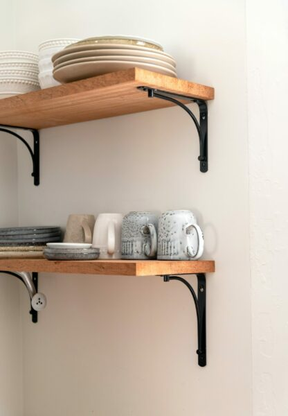 Dishes on a shelf - Fall Prevention