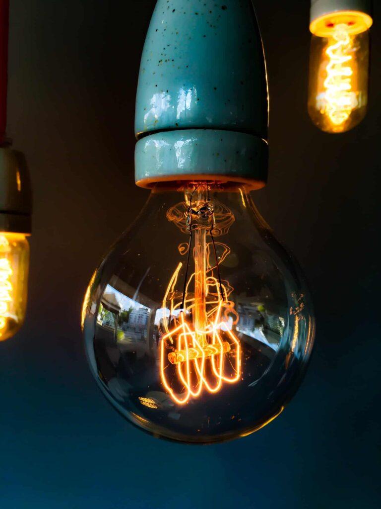 Lightbulb illuminated - fall prevention