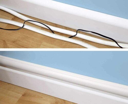 Cable trunking before and after - Fall prevention