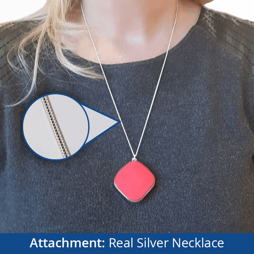Dementia Tracker GPS Keyring/Necklace - Silver Necklace
