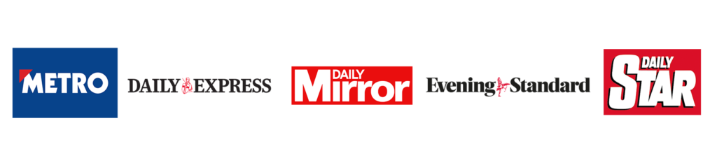 Metro Daily Express The Mirror Evening Standard Daily Star Logos