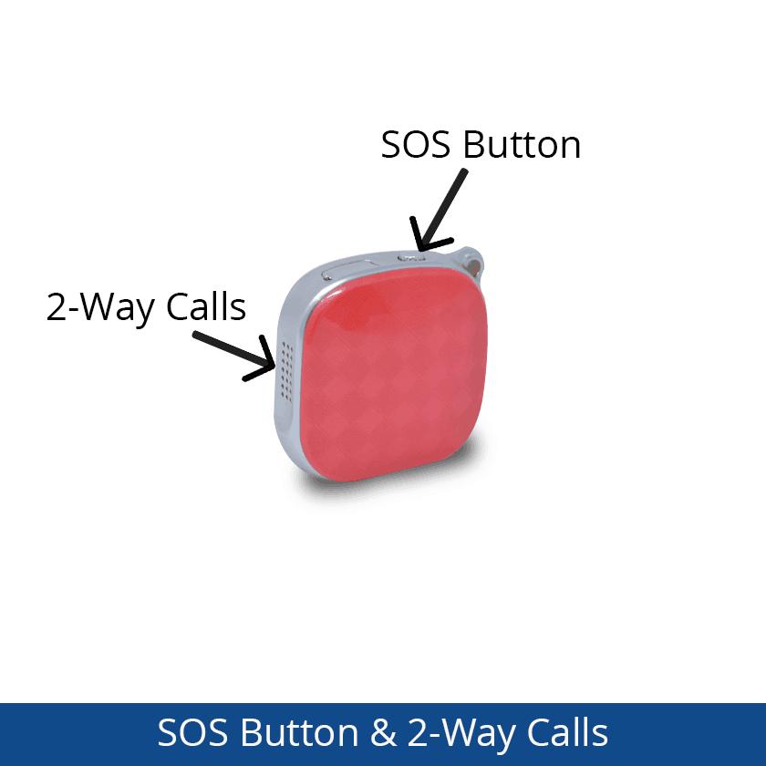 Dementia Tracker GPS Keyring/Necklace - SOS Button