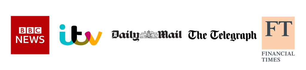 BBC News ITV Daily Mail The Telegraph Financial Times Logos