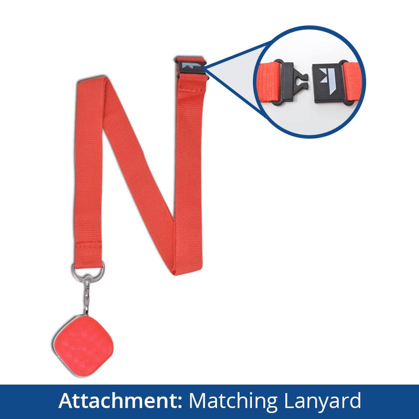 Dementia Tracker GPS Keyring/Necklace - Matching Lanyard